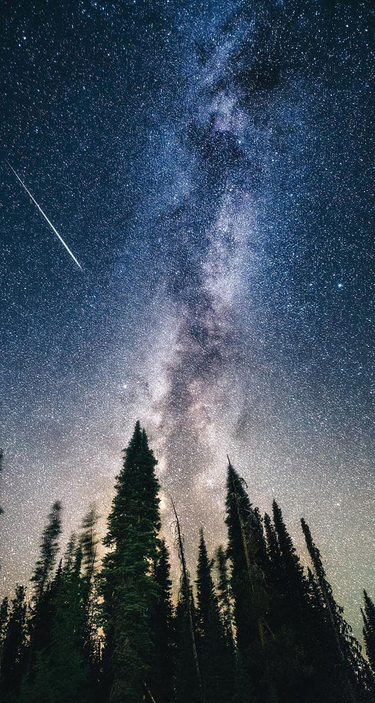 Milky Way At Night From Oregon
