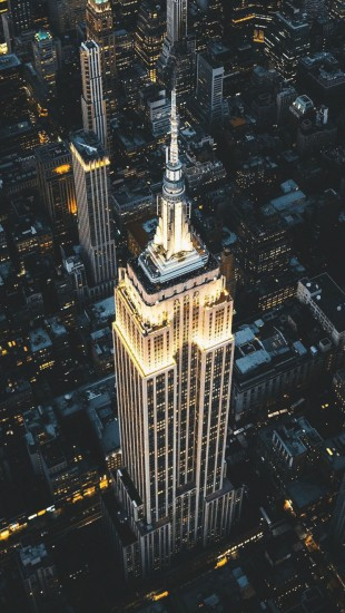 Night view of Empire State Building