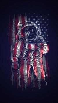 Astronaut-flag