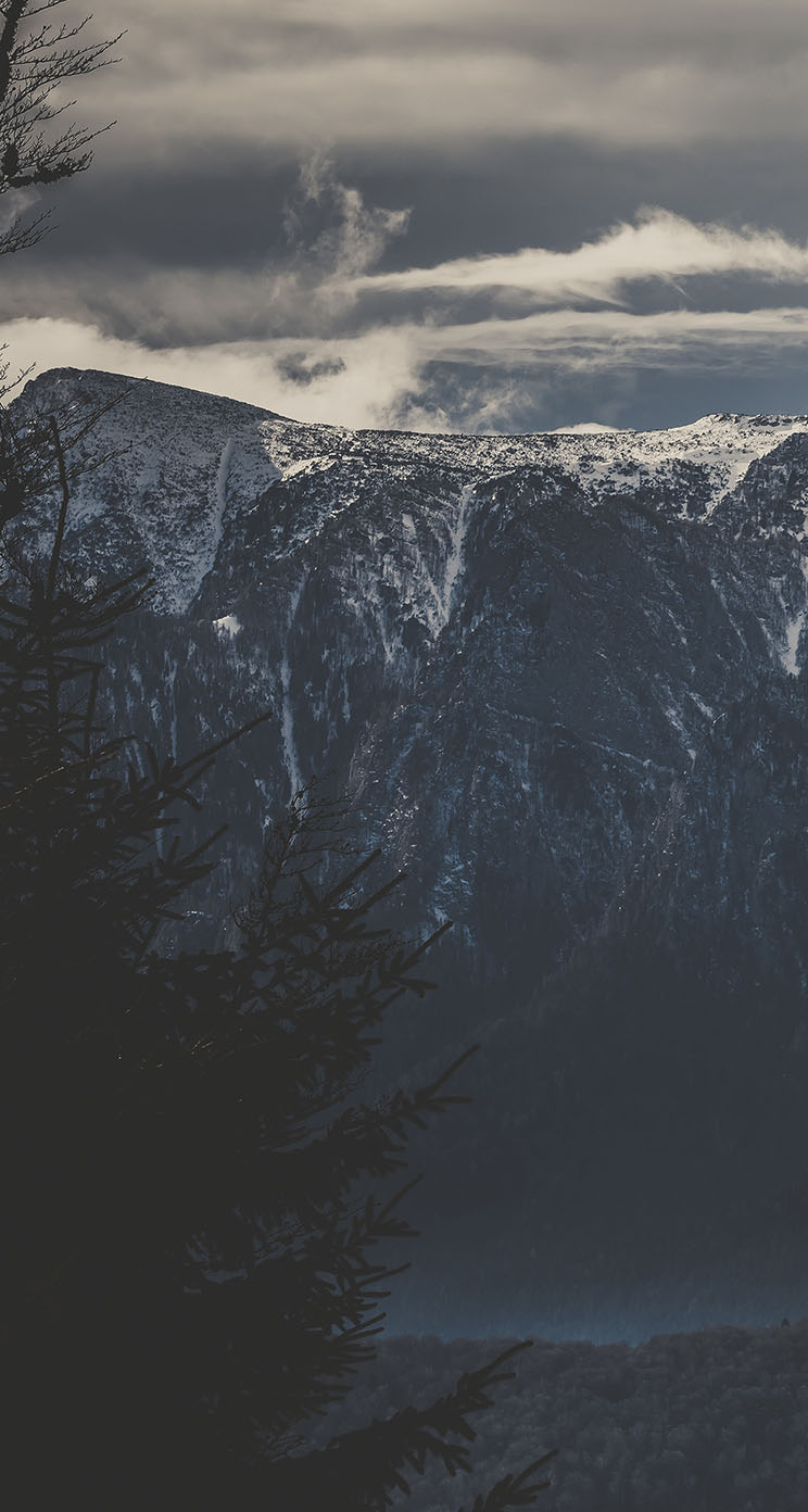 The Iphone Wallpapers Grey Mountains