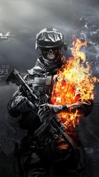 Battlefield 3 Skulls Fire