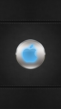 Blue Glow Apple Logo