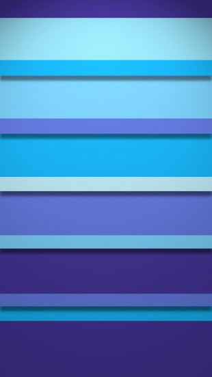 Blue Stripy Shelves