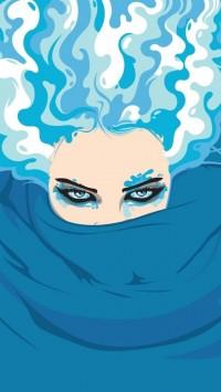 Blueish Face