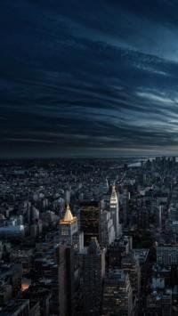City Aerial View Night