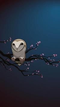 Masked Owl Vector Art