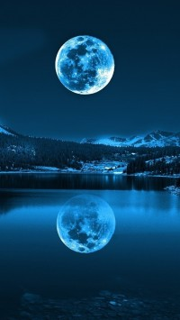 Moon in Cold Lakes