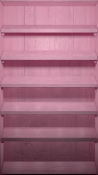 Pink Wood Shelves