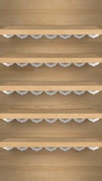 Shelves With Dentelle