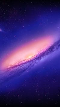 Andromeda Galaxy Purple