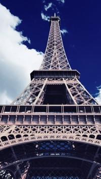 Eiffel Tower Bottom Up View