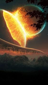 Planets Colliding