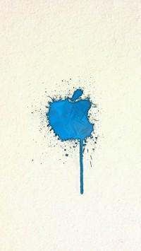 Spraying Apple Logo