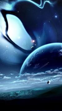 City Planet Clouds