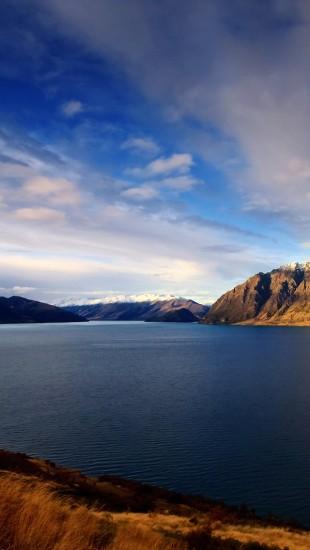 Quiet Lakeside Blue Sky