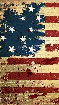 USA Flag Theme Background