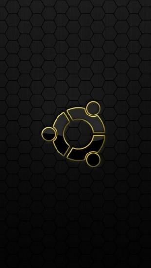 Ubuntu Os Logo Black Yellow