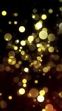 Abstract Golden Bokeh