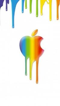 Apple Rainbow Background