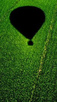 Balloon Over A Cornfield