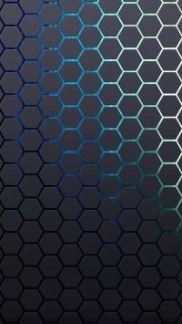 Grid Hexagon Background
