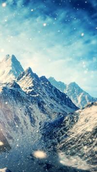 Snow Mountains Landscapes The Elder Scrolls V Skyrim