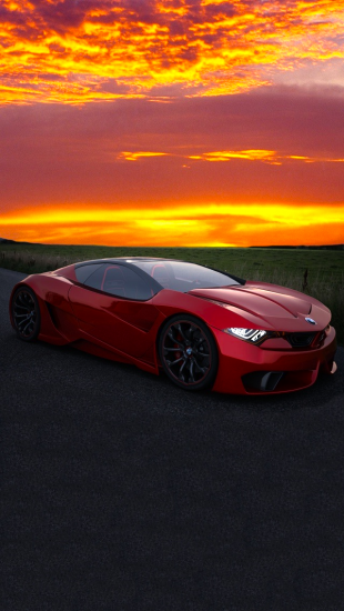 Red Sports Car In Mazatlan