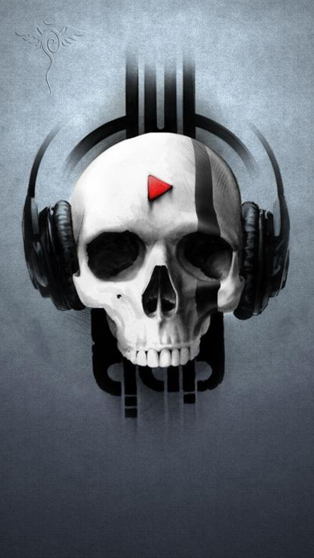 Skull And Headphones The Iphone Wallpapers