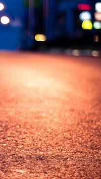 Street Line At Night