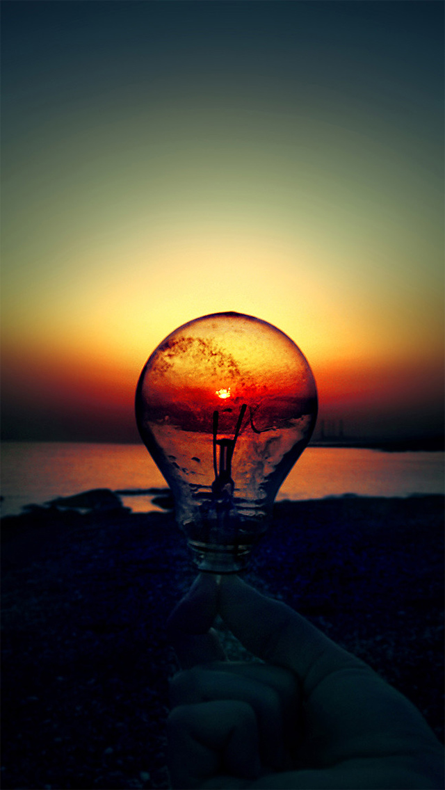 Bulb Sunset The Iphone Wallpapers