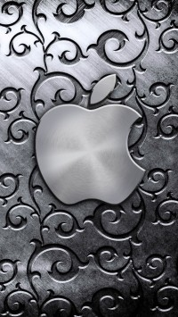 Silver Apple Logo