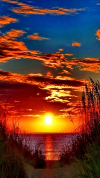 Awesome colorful sunset