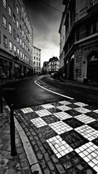 Black White City Street