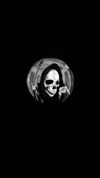 Grim Reaper In A Spyhole