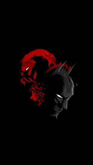 Black Batman and Red Bane
