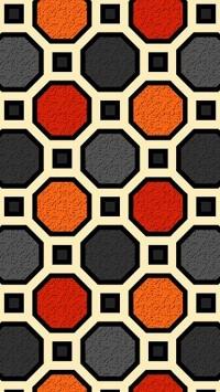 Borg Black Orange Red Gray