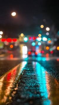 New York Street Close-Up Bokeh