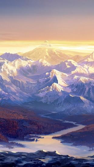 Paintings Snow Mountains