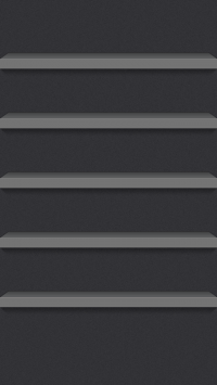 iPhone 5 iOS7 Dark Shelf