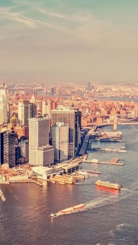 Aerial view Manhattan New York