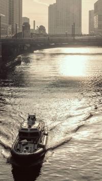 Bridges urban boats rivers