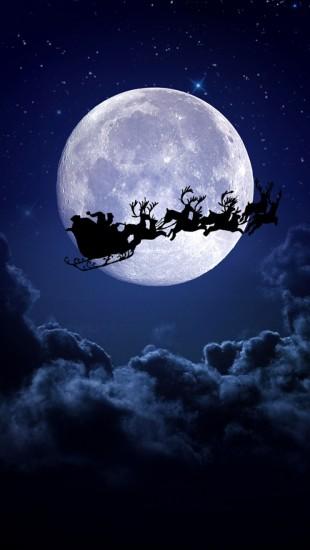Christmas Night Moon