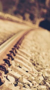 Close-up railroad tracks