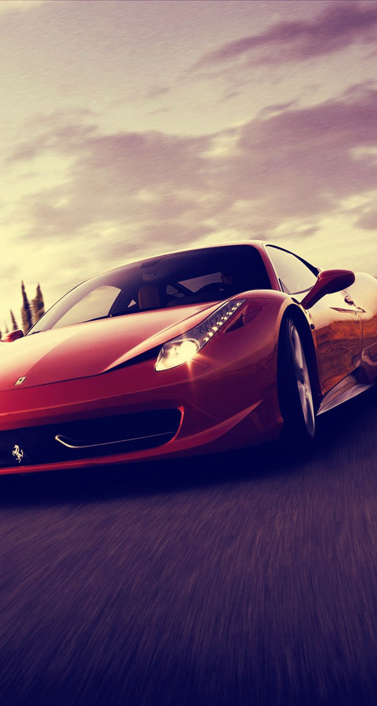 Ferrari 458 Spider Sports Car - The iPhone Wallpapers