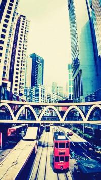 Hong Kong street Fisheye Photo