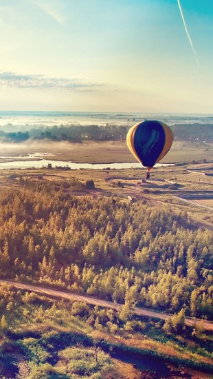 Hot Air Balloon taking off