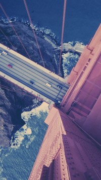 Atop the Golden Gate Bridge
