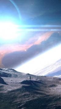 Moon Earth Space Panorama