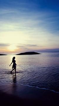 Sunset Beach Girl