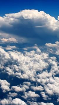 Clouds sky light blue